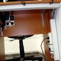 Кабел-канали скриващи всички кабели на компютъра и принтера в офис на клиент